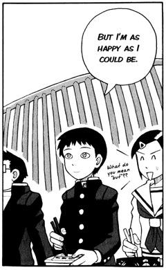 ...men Hoshino är lycklig ändå