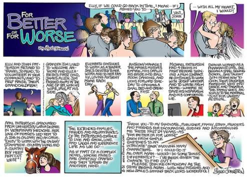 Den sista söndagssidan; det här är från tidningen, medan samma sida i Just a Little Wedding har något annorlunda text i sista rutan