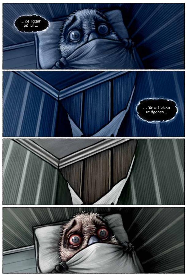 Lilla fågel Blå (Cobolt) - sömn