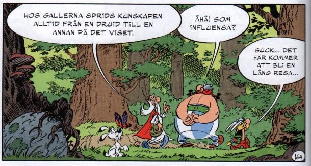 Asterix pratar för mycket -> poängen förstörd