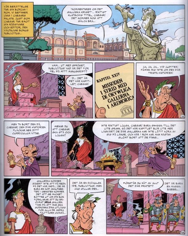 Sida 1, med en Caesar som är betydligt mindre rättrådig än förut