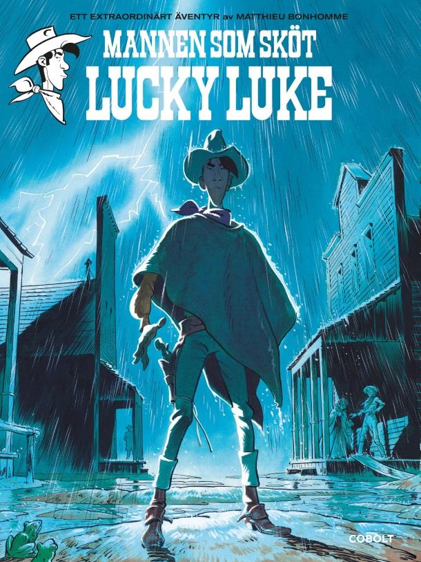 Mannen som sköt Lucky Luke -omslag