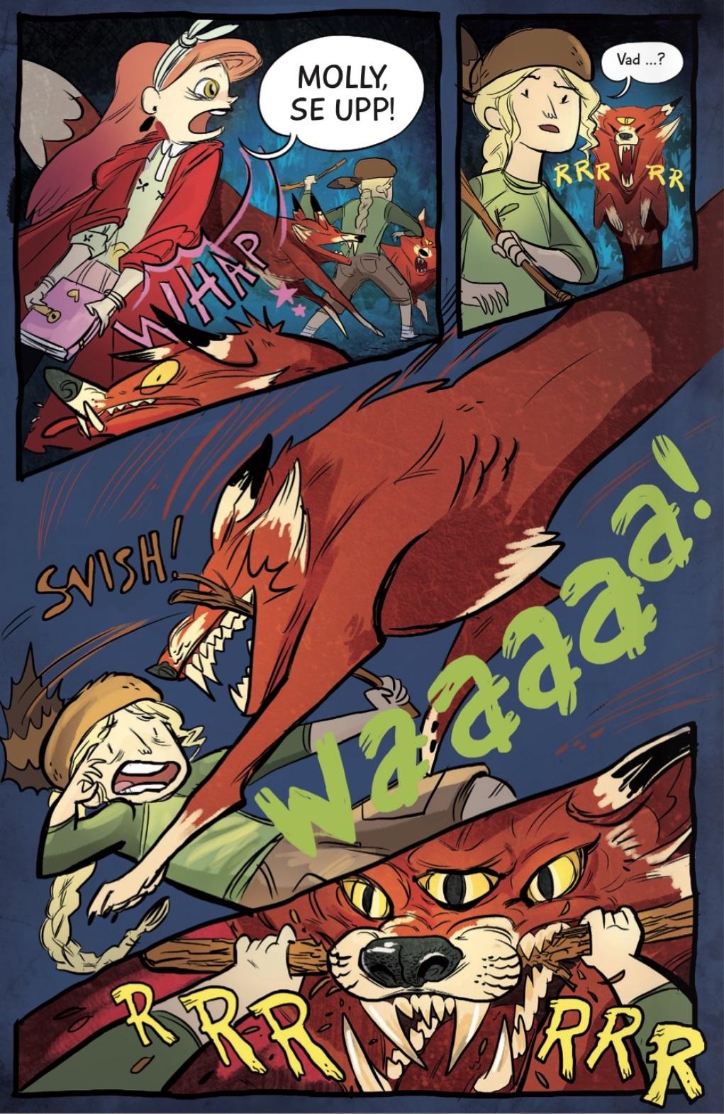 vildmarks-systrar - katten loori flyr